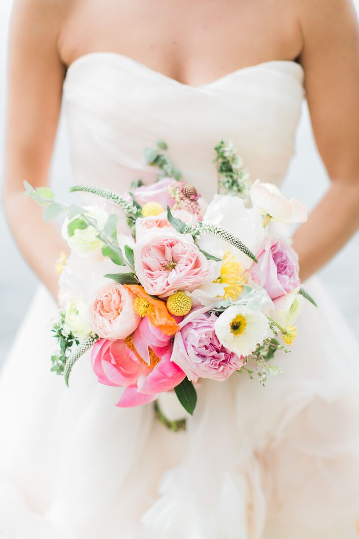 Bright Summer Garden Rose Bouquet