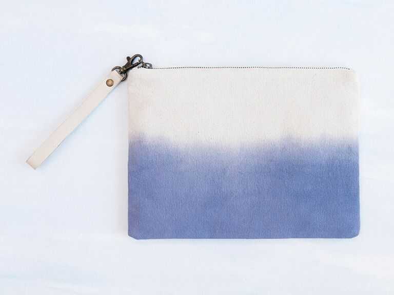 dip-dyed clutch