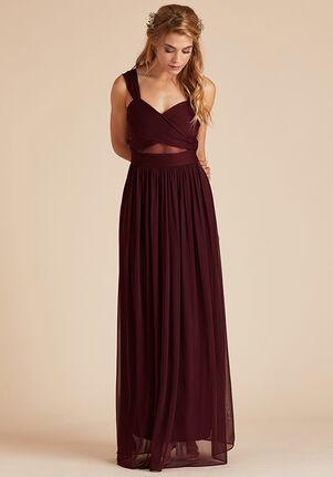 Birdy Grey Elsye Mesh Dress in Cabernet Sweetheart Bridesmaid Dress