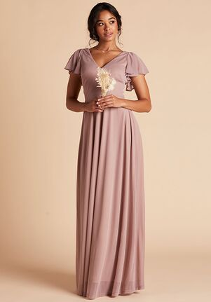 Birdy Grey Hannah Dress in Mauve V-Neck Bridesmaid Dress