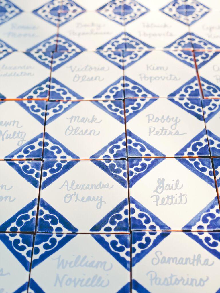 Spanish Tile Escort Cards