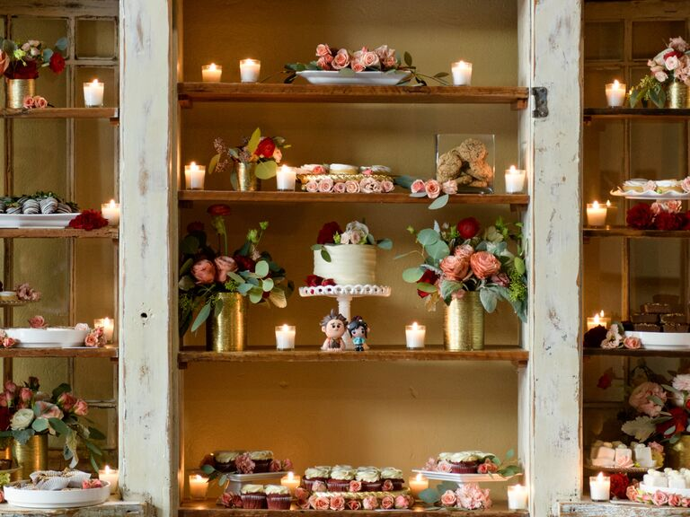dessert station wedding