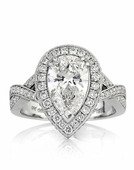Mark Broumand 3.14ct Pear Shaped Diamond Engagement Ring ...