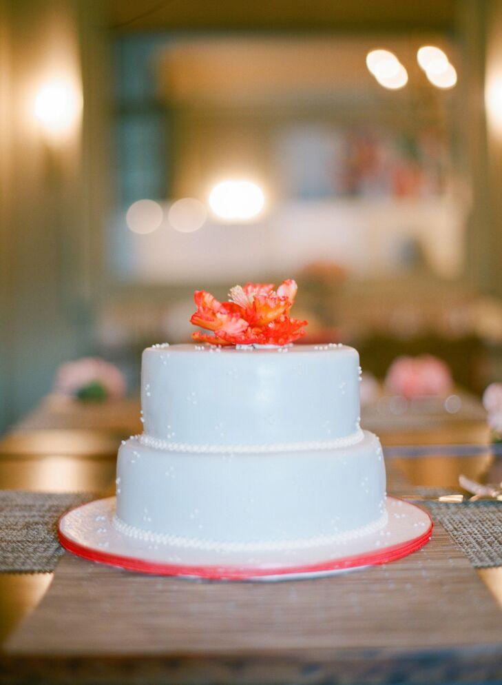 Light Blue Two-Tier Cake