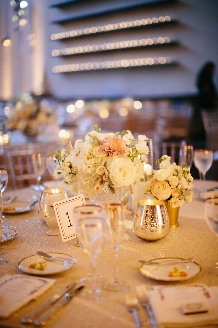Glam Silver and Gold Reception Decor