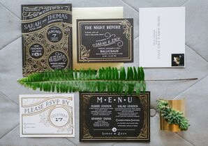 Black and Gold Art Deco Invitations