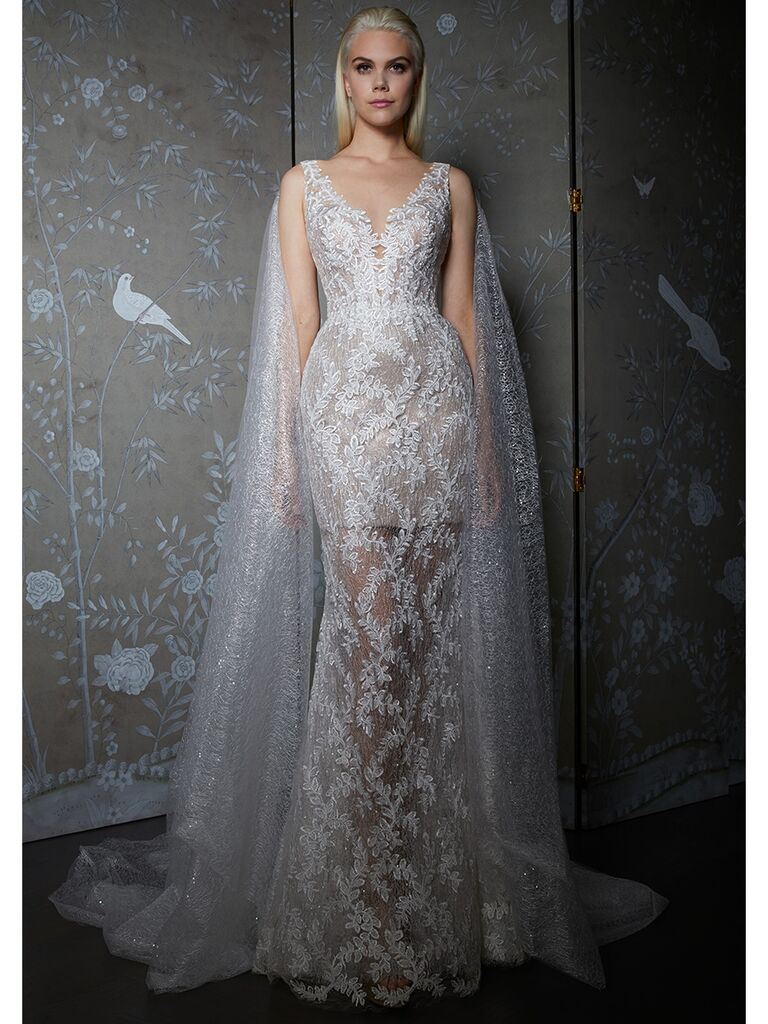 Legends by Romona Keveza wedding dress shimmering lace trumpet gown