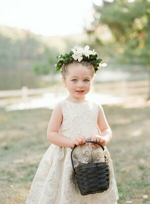 Flower Girl with Flower Crown at Cedar Lakes Estate in Port Jervis, New York