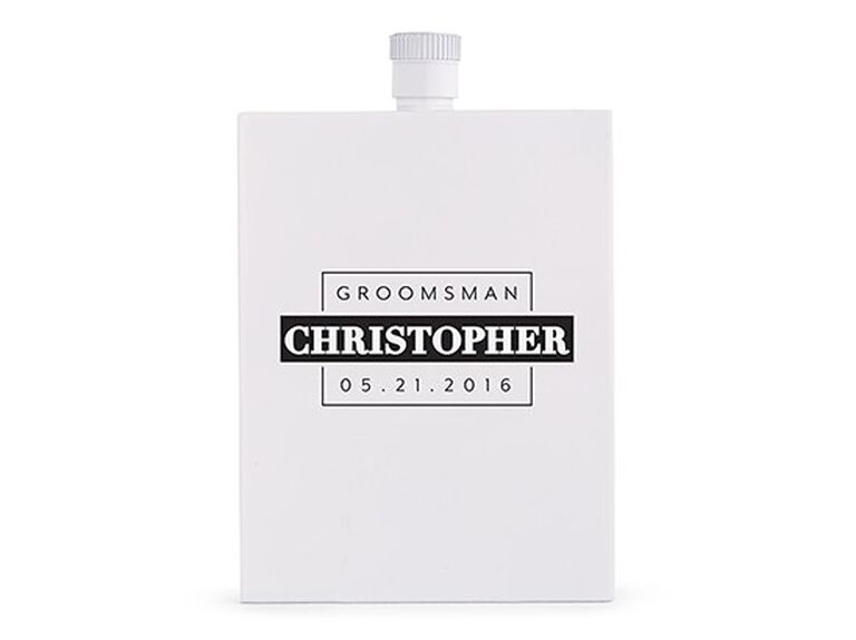 Best man flask for wedding gift