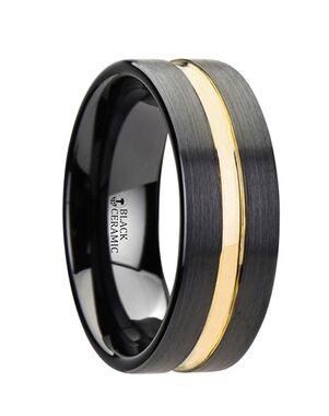 Mens Tungsten Wedding Bands W3104-BCGG Tungsten Wedding Ring