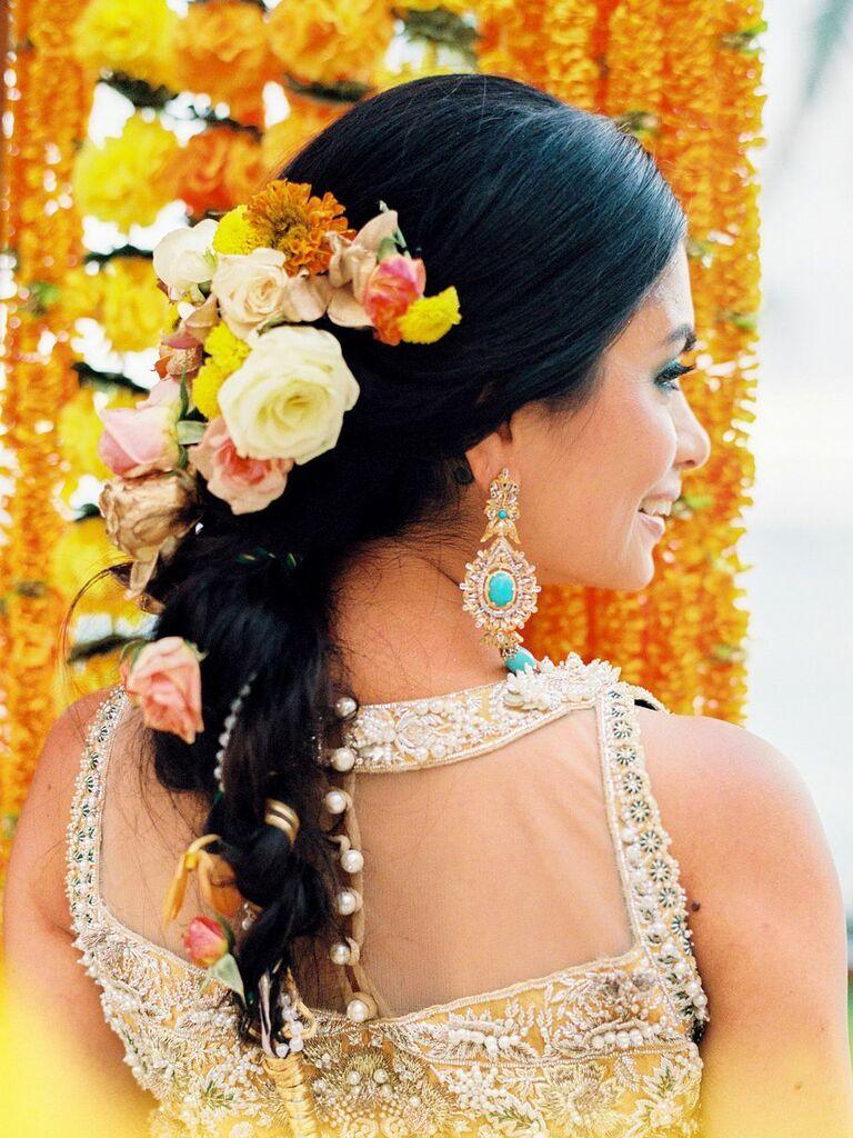 wedding braid hairstyles braid with flowers