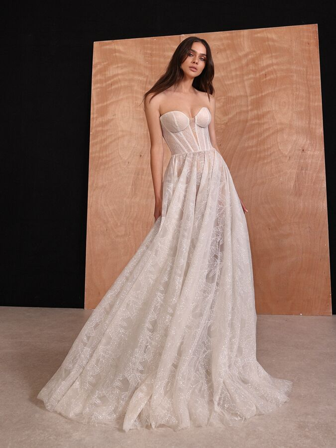 Gala by Galia Lahav strapless ball gown with corset bodice