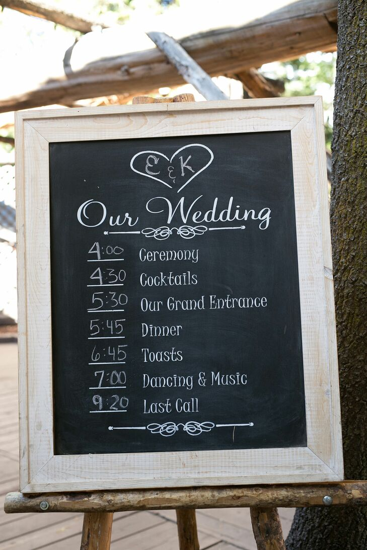 """""""Most of the signs around the venue were chalkboard or printed out in chalkboard style,"""" Erin says."""