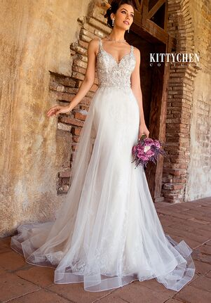 KITTYCHEN Couture CYNDI SKI, K1967 Sheath Wedding Dress
