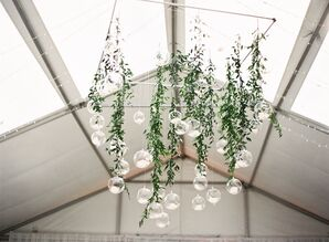 Modern Chandelier with Hanging Vines