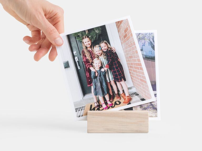 Desk photo display gift for father of the groom
