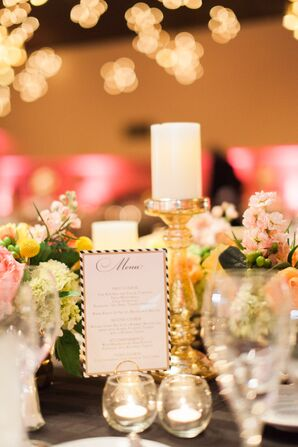Romantic Flower and Candle Centerpieces