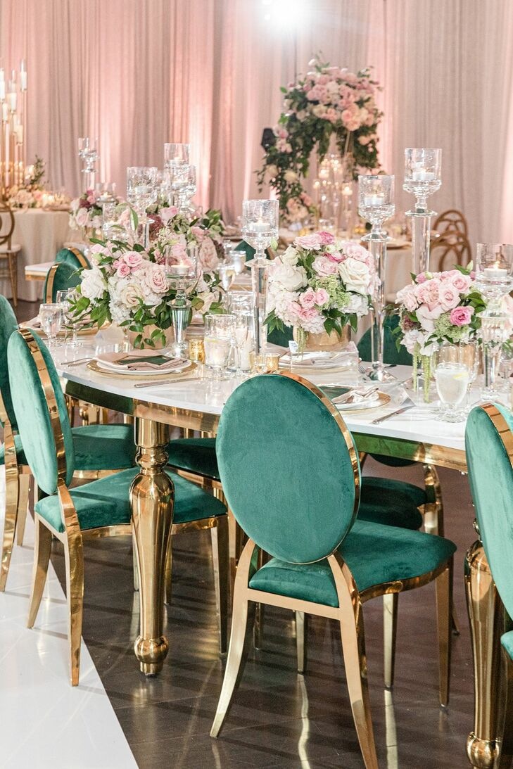 Glam Wedding Reception at The River View at Occoquan in Lorton, Virginia
