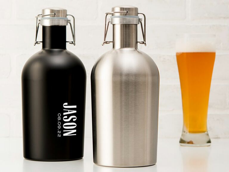 Silver growler 16th anniversary gift