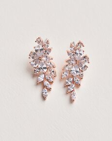 Dareth Colburn Vivian CZ Dangle Earrings (JE-7059) Wedding Earring photo