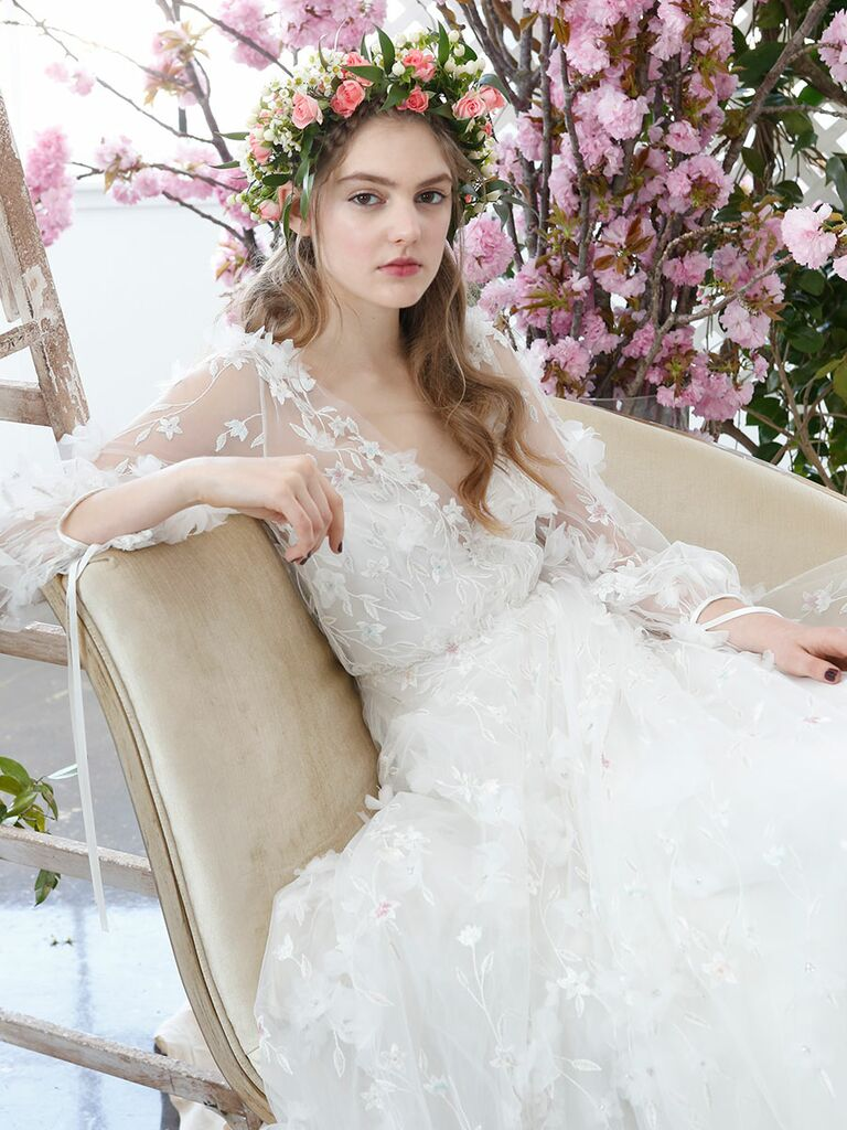 Marchesa Notte Bridal Spring 2018 Wedding Gown With Fl Liqué