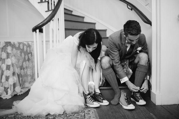 63a8601dcd309 Custom Converse Sneaker Wedding Reception Shoes