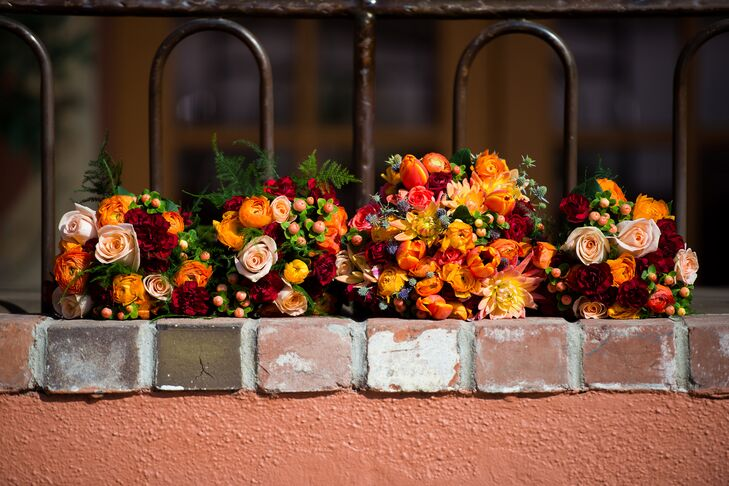 Vibrant Orange Fall-Inspired Bouquets