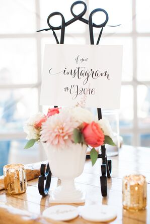 Romantic, Calligraphed Tabletop Signs