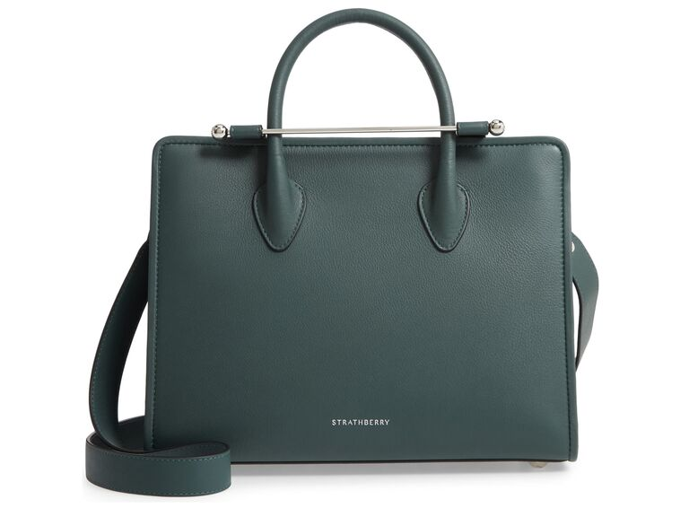 Green leather tote bag 30-year anniversary gift