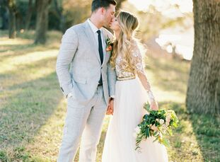Ashley Fort (25 and a photographer) and Christopher Maresh (25 and a project manager) planned a rustic affair that highlighted the natural beauty of t