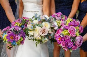 Rose and Dahlia Purple Bouquets