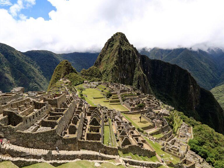 Machu Pichu ruins in Peru