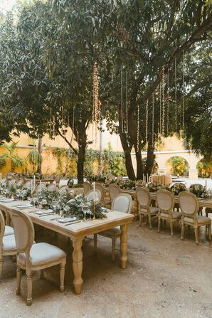 Natural and Rustic Outdoor Reception