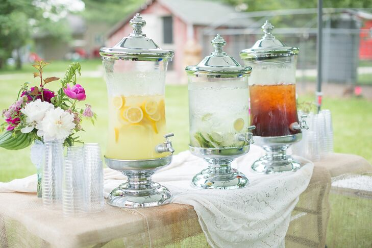 Iced drinks helped guests stay cool on the warm summer day.