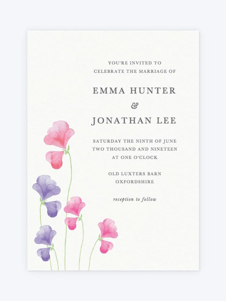 50 Spring Wedding Invitations You Can