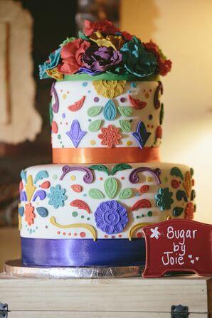 Colorful Paisley Fondant Cake