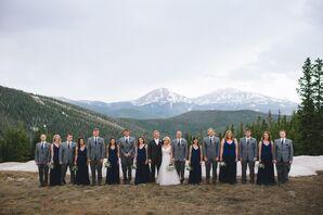 Gray and Navy Bridal Party Attire