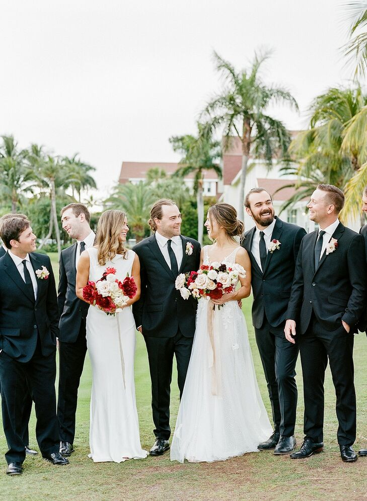 Wedding Party at The Gasparilla Inn in Boca Grande, Florida