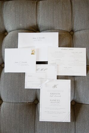Silver and White Invitations and Program