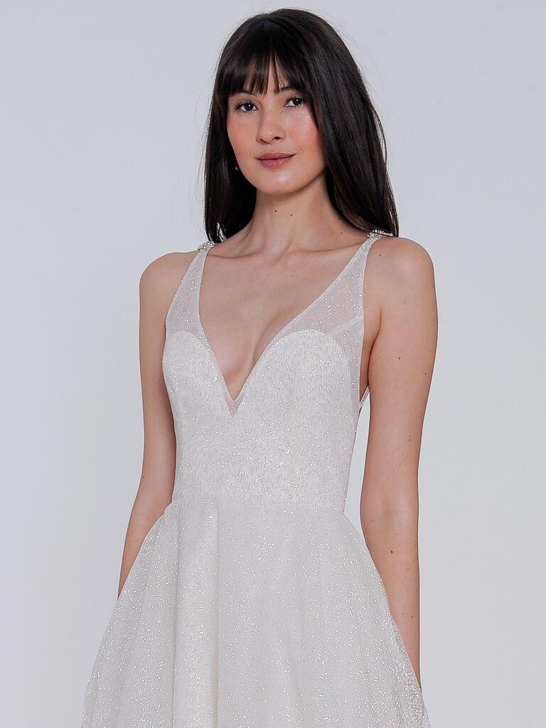 6c245736fda Lazaro Spring 2019 Collection  Bridal Fashion Week Photos