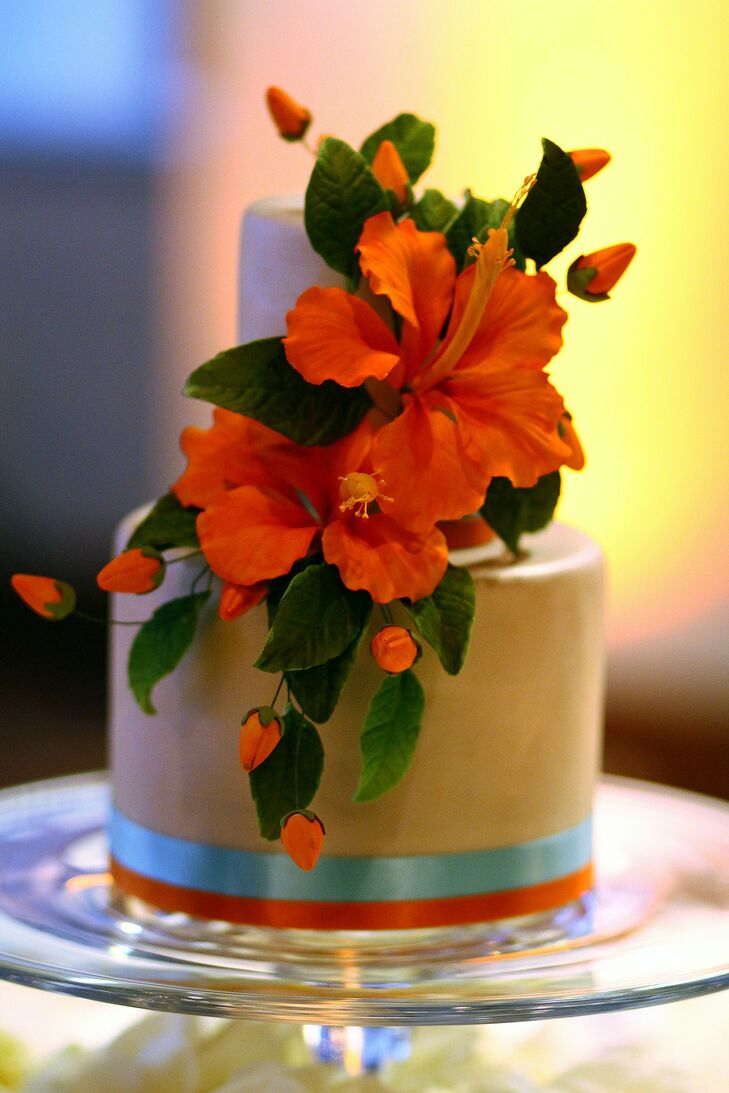 Hibiscus Decorated Cake