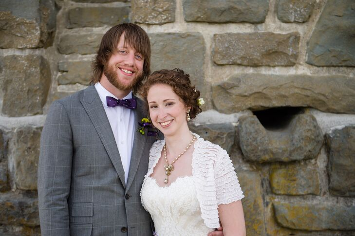 Bride and Groom in Eastsound, Washington