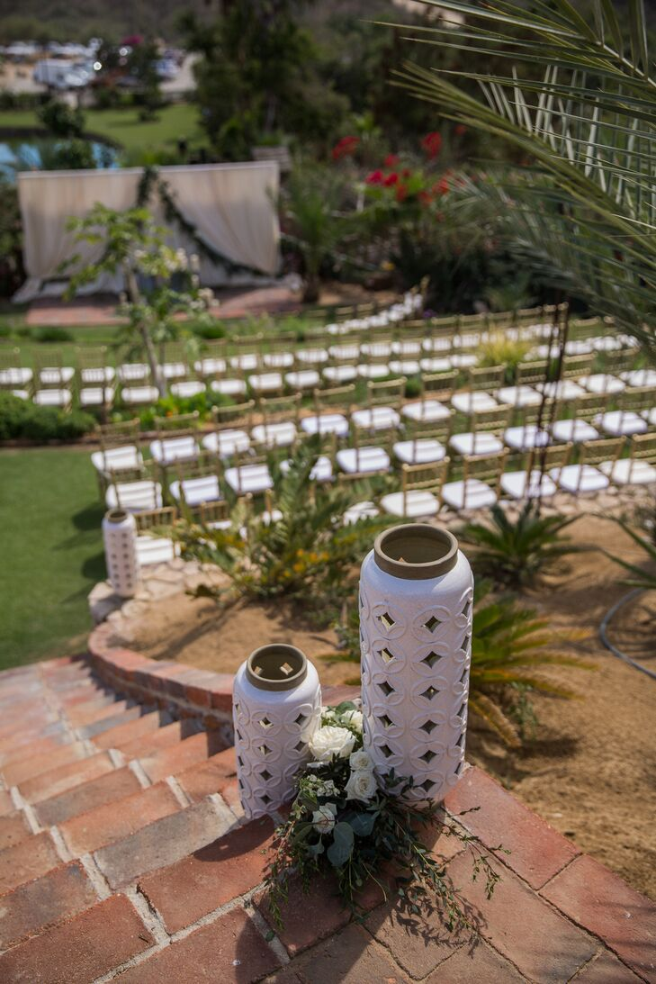 """Flora Farms allowed us to give our guests an experience that was unique and unexpected in Mexico. Thankfully we decided on this location, since we had hoped for 100 guests to come to our wedding and in the end had 168,"" Katie says."
