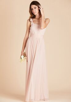Birdy Grey Jan Scoop Back Dress in Pale Blush Scoop Bridesmaid Dress