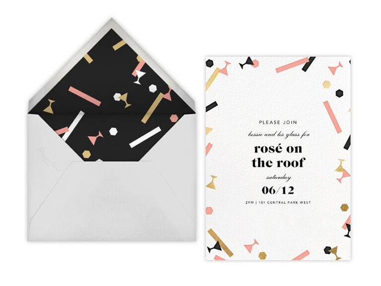 Rosé on the Roof party invitations from Paperless Post