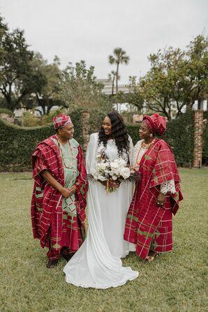 Traditional Nigerian Wedding Attire at The Cummer Museum of Art & Gardens in Jacksonville, Florida