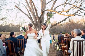 Outdoor Fall Plantation Wedding Ceremony