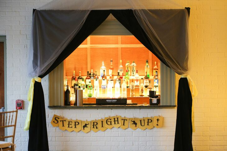 Stacey and Tara carried the theme throughout their day, with banners in their wedding colors decorating everything from the bar area to the favor table.