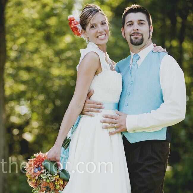 The Bride Meghan O'Meara, 28, a property management office manager at Lutheran Homes of Michigan in Frankenmuth and an aspiring photographer The Groom