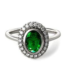James Allen Vintage Oval Cut Engagement Ring